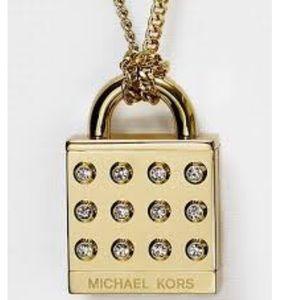 Michael Kors Astor Pave Padlock Necklace